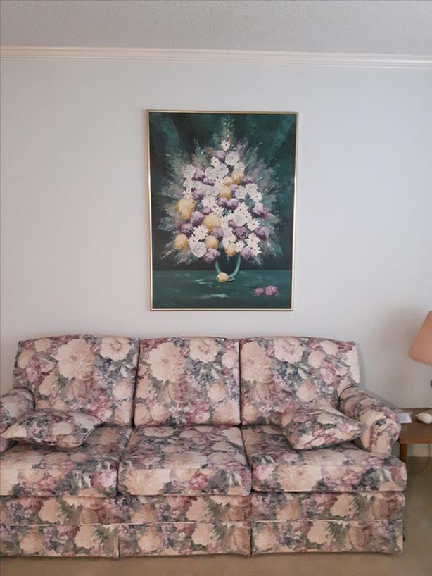 Estate Furnishings Large Framed Floral Picture