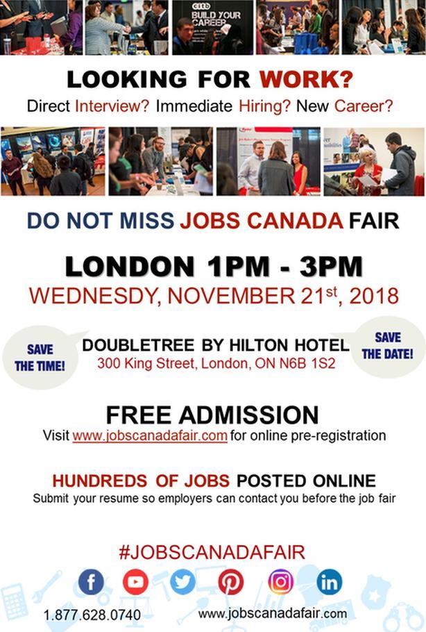 LONDON JOB FAIR - NOVEMBER 21ST, 2018