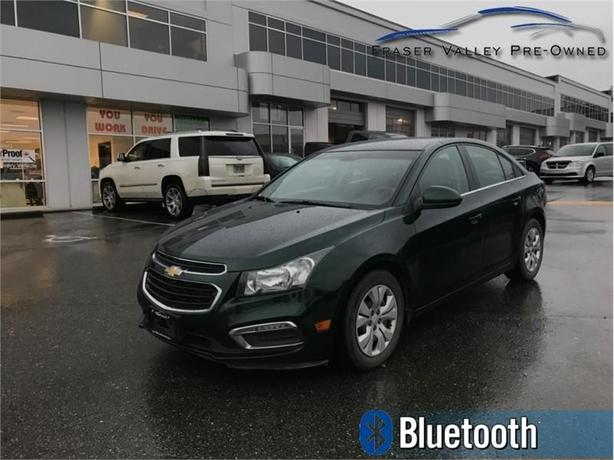 2015 Chevrolet Cruze 1LT  - Bluetooth -  SiriusXM - $77.50 B/W