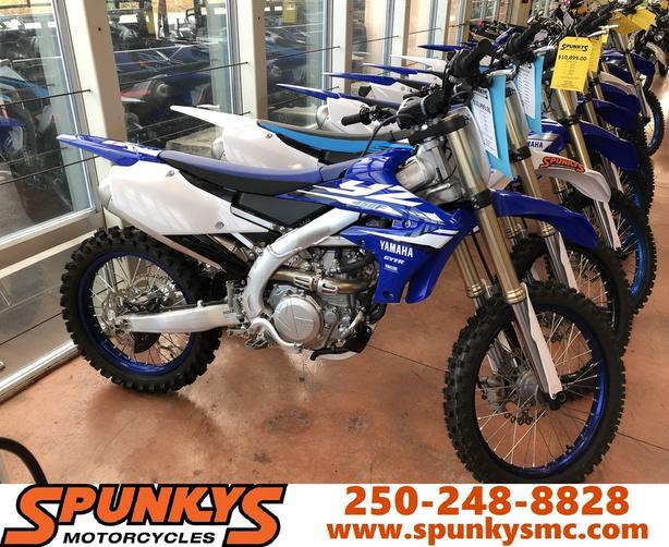 $7,499 · 2018 Yamaha YZ450F Blue on Sale @ Spunkys    $3000 OFF MSRP!