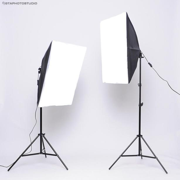 1800w photo video continuous softbox lighting kit / GTAPhotoStudio . com