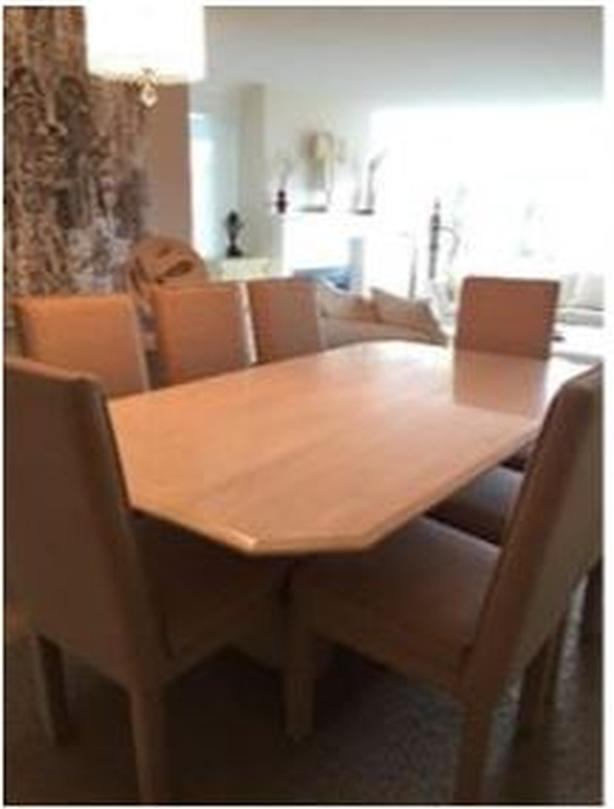 Elegant Solid Marble Dining Room Table With 8 Chairs Reduced