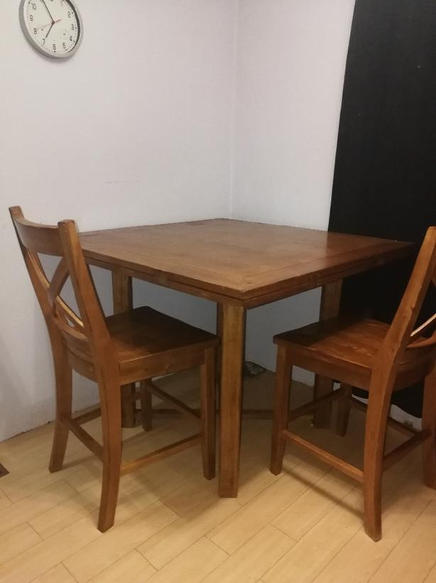 6person table set solid wood for sale