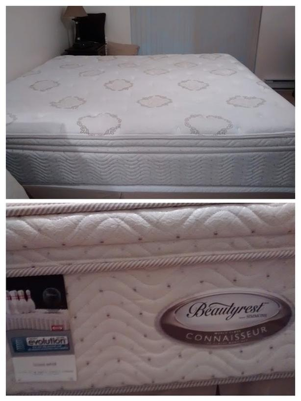 King-Size Bed and Box Spring