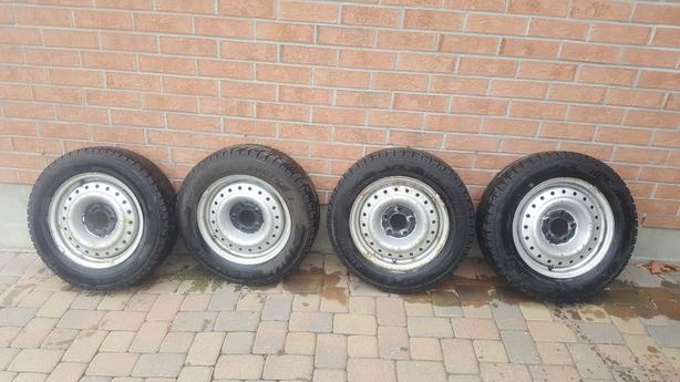 Used 4 Hemisphere Arctic Winter Tires with 4 Rims - Size 195/65R15 for Sale.