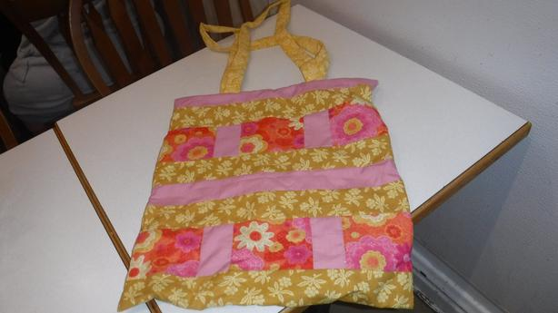 Yellow and pink purse for sale