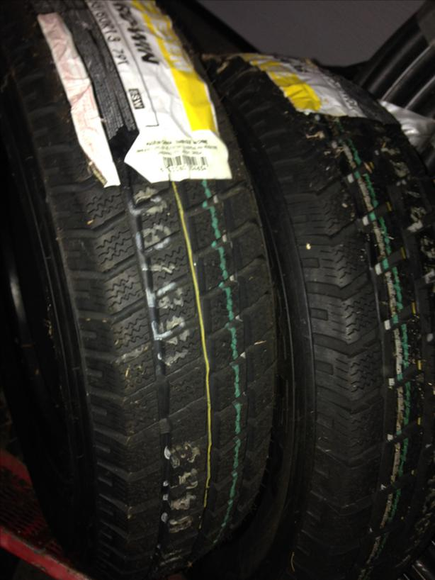"2 snow tires 13"""