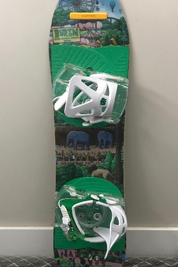 burton snowboard package for kids 80