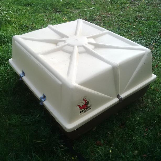 Perfect condition Karrite roof carrier top box. what ever you want to call it