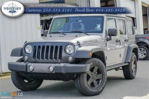 2016 Jeep Wrangler Unlimited - Low Mileage