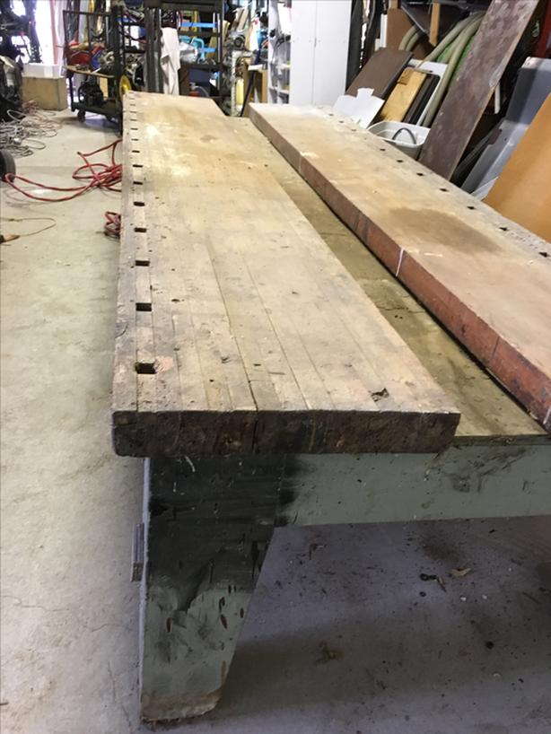 "carpenters Table 12 feet L  54"" W 3.5"" Thick BC Fir"