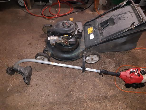 lawn mower and weed eater combo