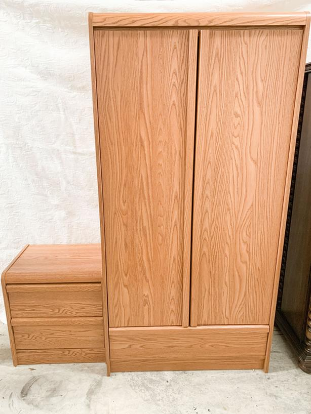 Wardrobe Cabinet & Bedside Table