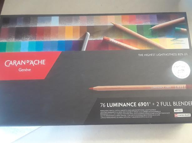 Full set 76 Caran d'Ache Luminance artists coloured pencils