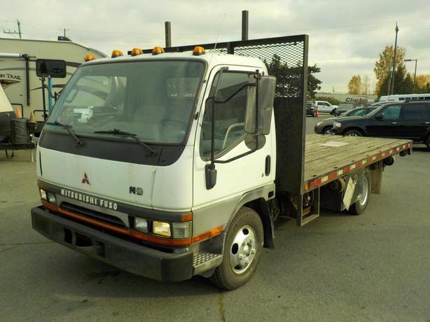 1999 Mitsubishi Fuso FE639 HD 16 Foot Flat Deck Diesel