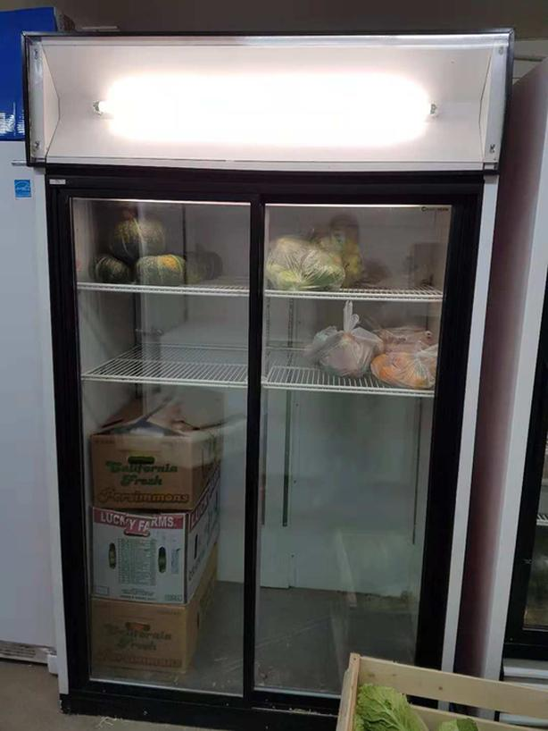 commercial glass doors fridge