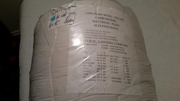 Wool Quilt/comforter, queen size