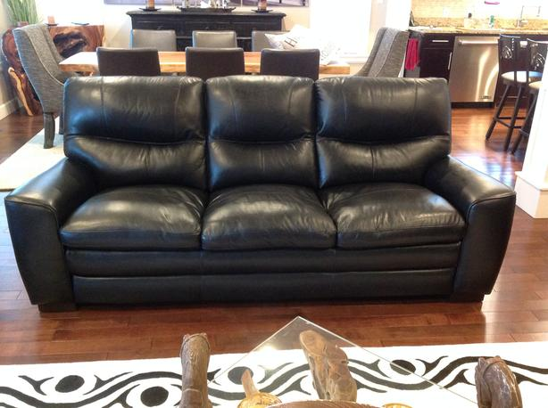 100% full grain leather sofa & love seat
