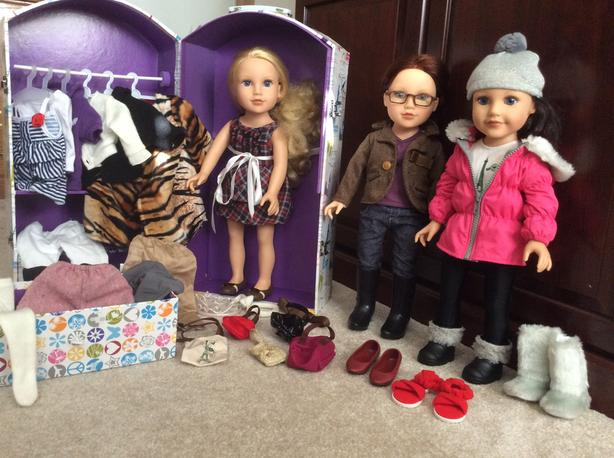 Journey Girl Dolls with Travel Trunk and Clothing