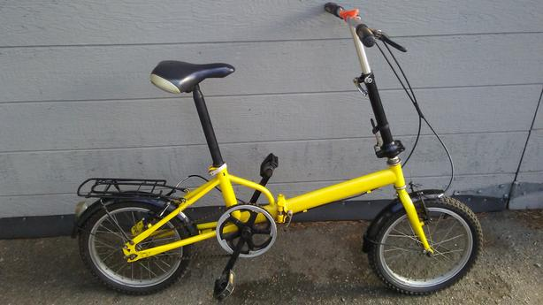 """Jasper Folding bike, 16"""" wheels, single speed"""