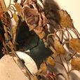 Gorgeous wrought iron mirror with roses