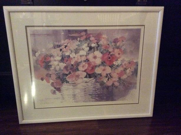 Flower numbered print