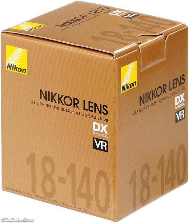 NIKON AF-S 18-140 DX ED VRII / new condition