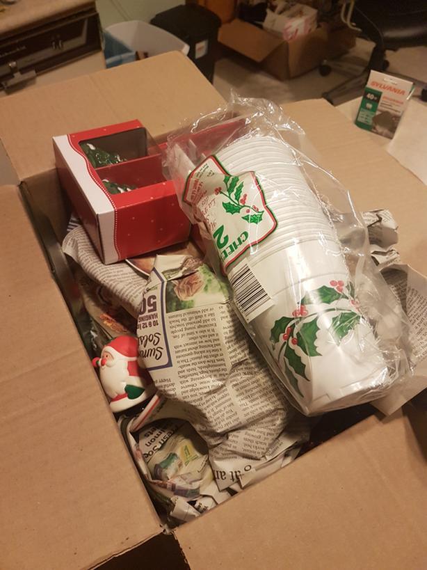 Box of Christmas Stuff