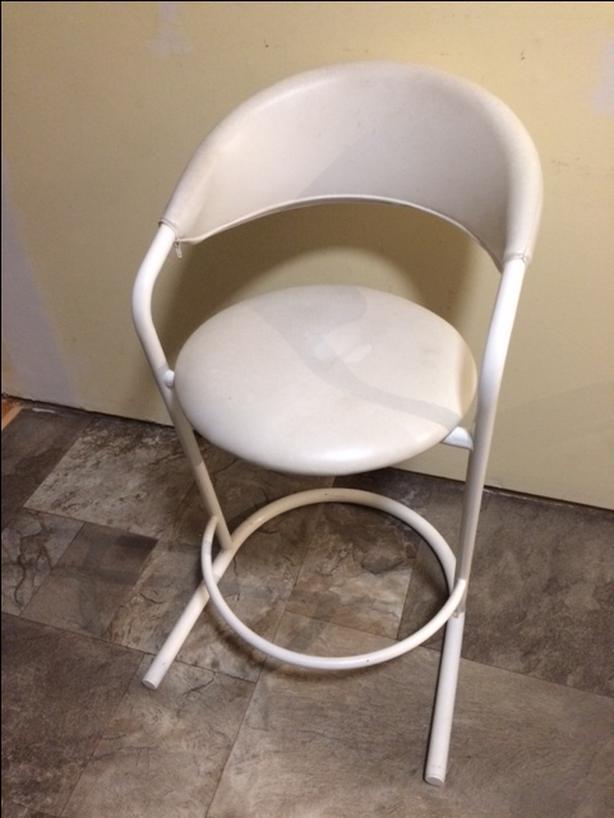 white comfy bar stool