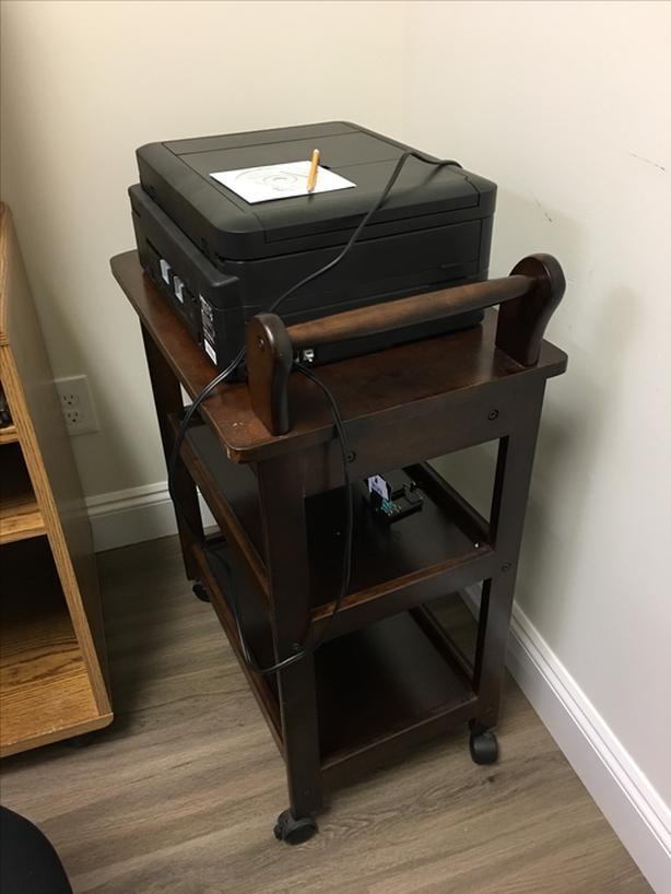 Antique Mahogany Tea Cart