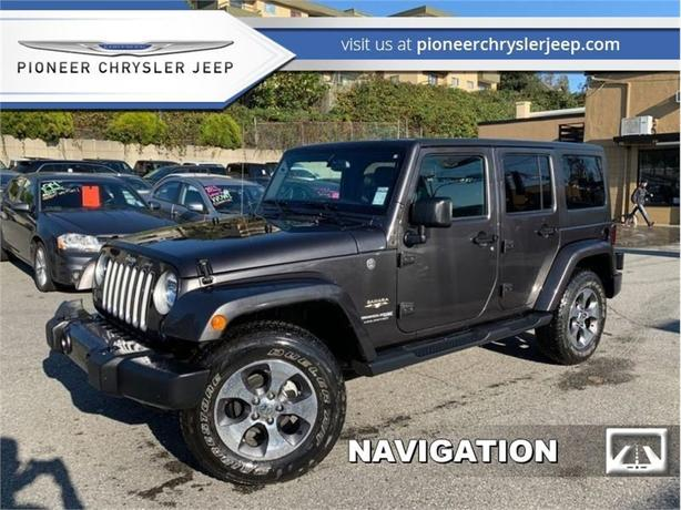 2018 Jeep Wrangler Unlimited Sahara 4x4  -Nav -Leather