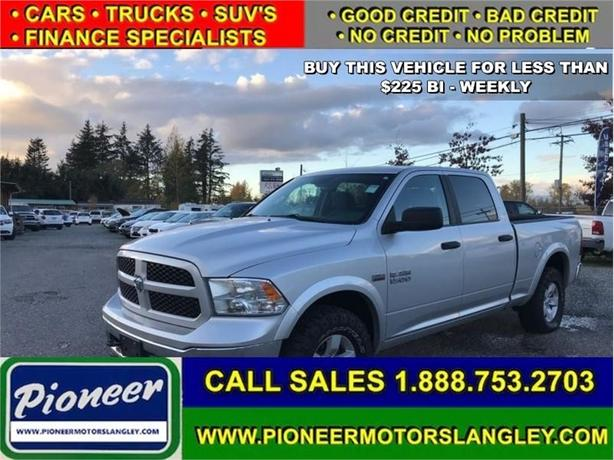 2016 Ram 1500 Outdoorsman  - Bluetooth -  SiriusXM - $201.28 B/W