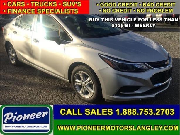 2017 Chevrolet Cruze LT  - Bluetooth -  SiriusXM - $108.07 B/W
