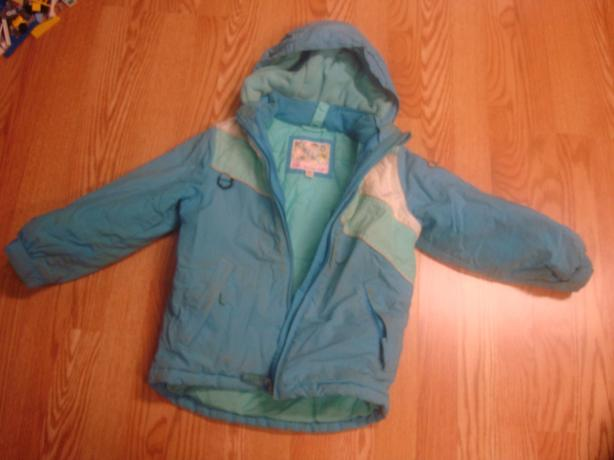 Like New Teal Winter Coat Size 5 Child - $5