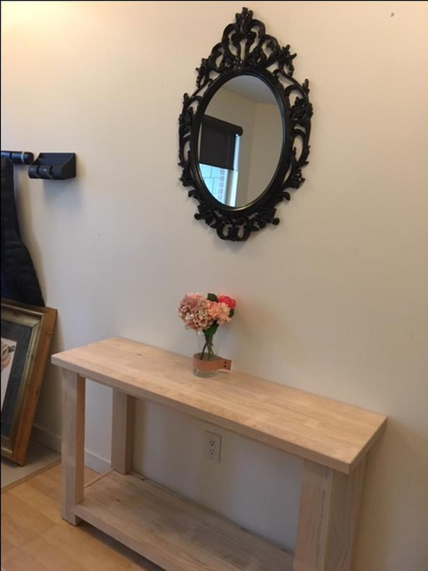 Ikea Rekarne Solid Pine Console Table New 80 Vancouver City