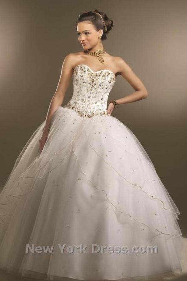 Cream And Gold Wedding Dress By Mori Lee Saanich Victoria