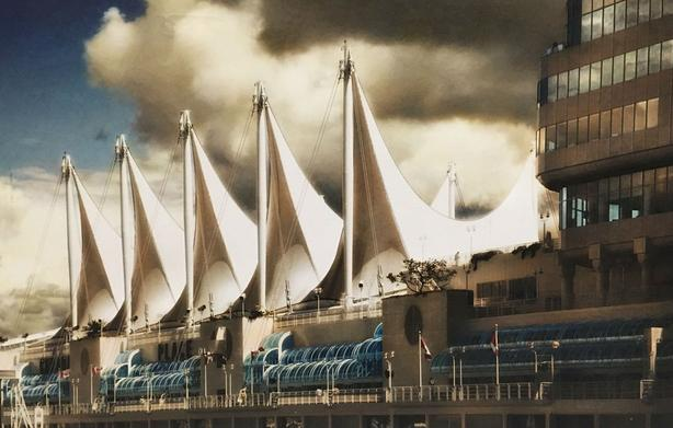 "Robert Boyd ""Canada Place"" Vancouver Full Gallery Wrapped Canvas 2"" Deep"