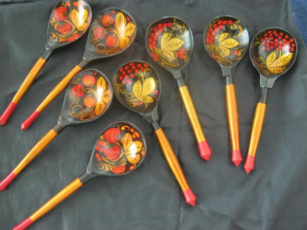 HAND MADE RUSSIAN WOODEN SPOONS