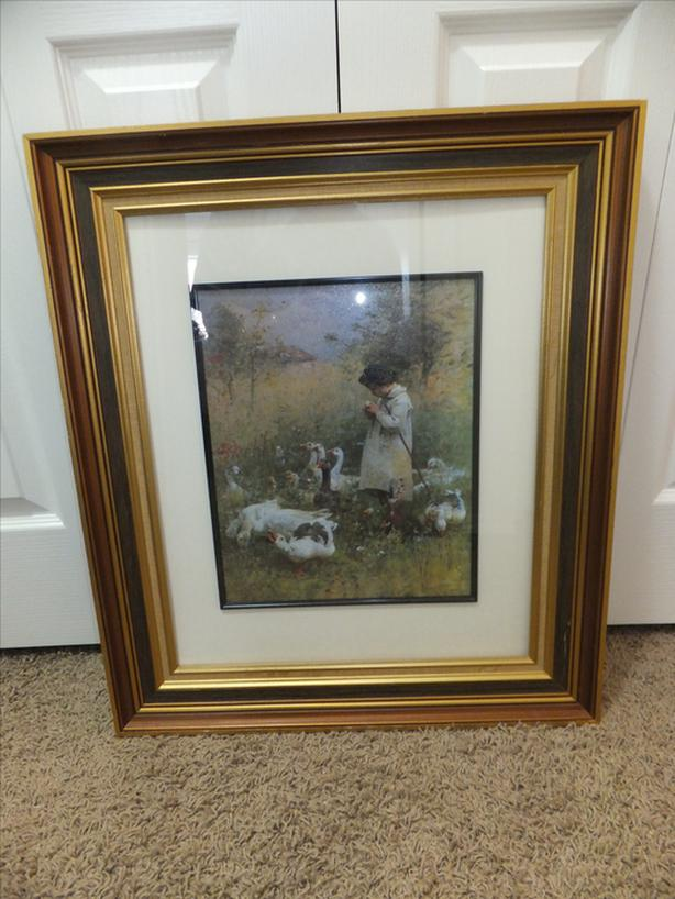 FOR SALE Picture Girl with Geese $20