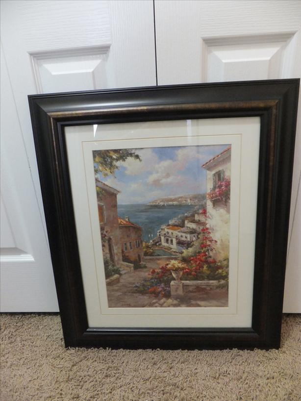 FOR SALE Picture of Mediterranean Scene $40