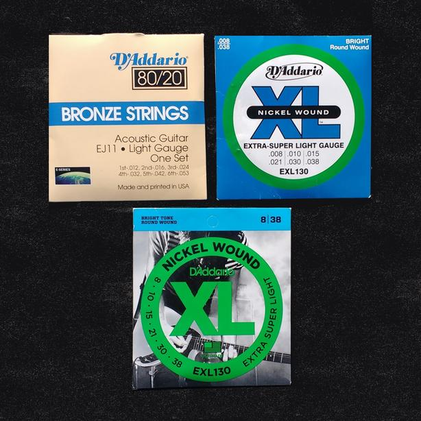 New guitar string sets - acoustic and electric
