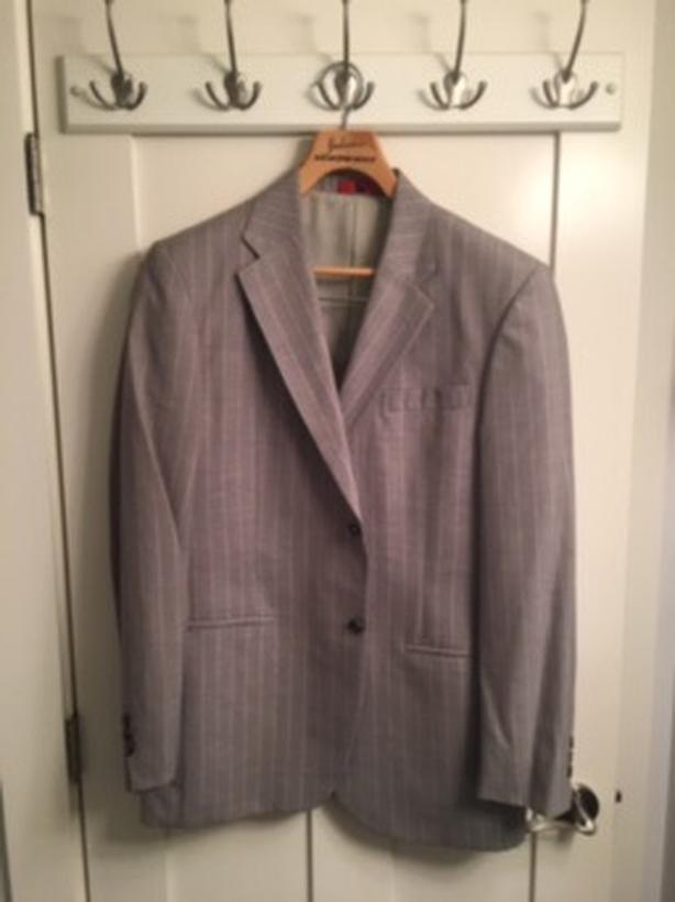 Light Grey Pinstriped Suit