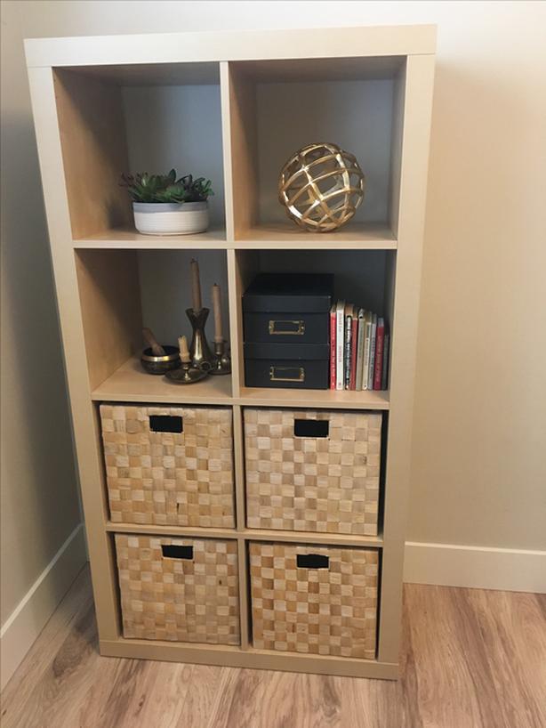 Genius Idea Ikea Expedit Shelves With Baskets For Storage: Birch Effect IKEA KALLAX/EXPEDIT Shelving Unit (w/free
