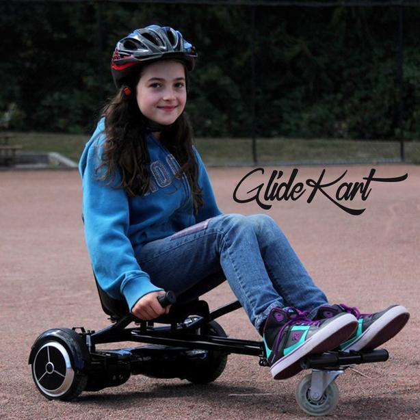 The GlideKart for Hoverboards and Balance boards