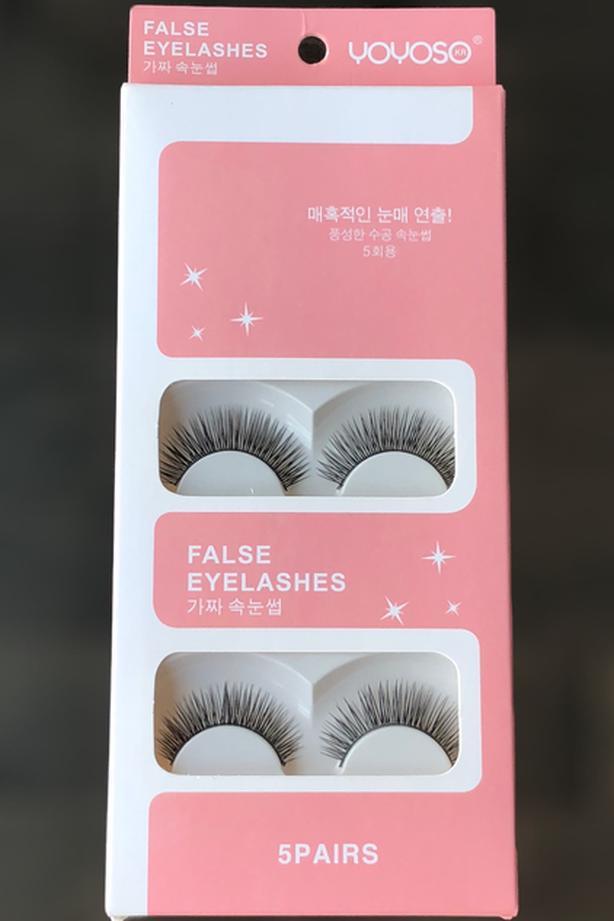 5 Pairs Luxurious 3D False Eyelashes Cross Natural Long