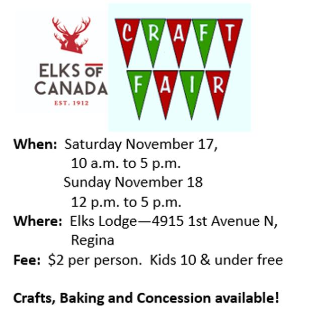 Craft and Bake Sale - Elks Lodge #9