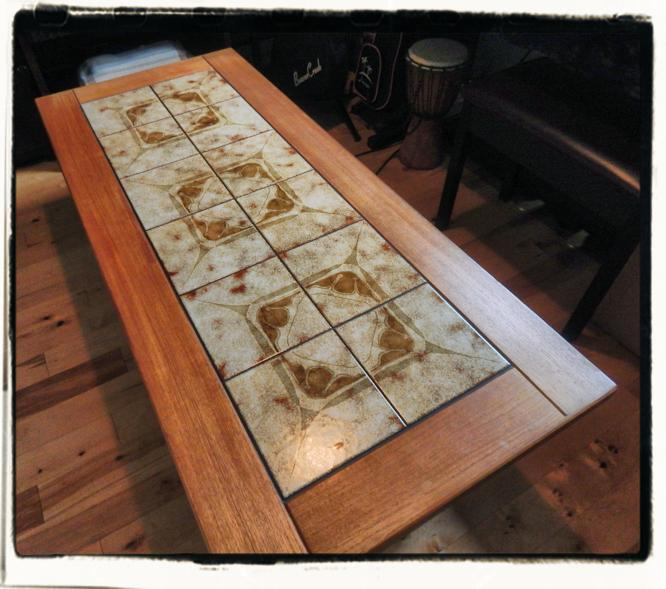 Wood Coffee Table With Tile Top Parksville Parksville