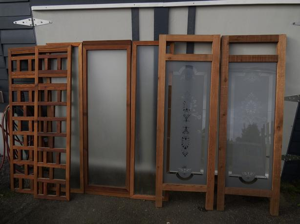 Cedar and glass panels 75 each