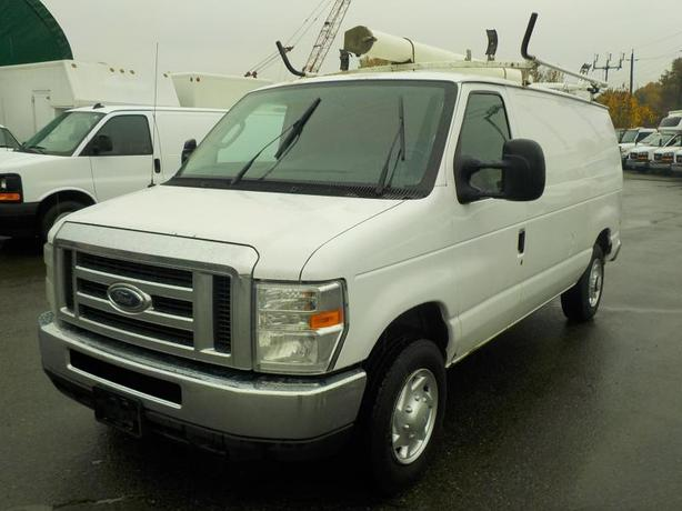 2011 Ford Econoline E-150 Cargo Van with Ladder Rack & Rear Shelving