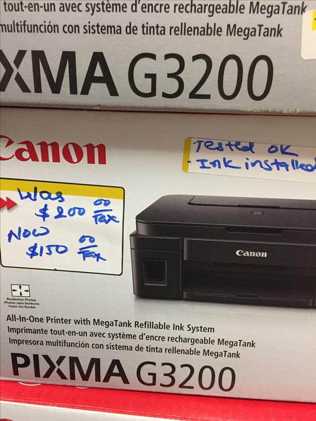 Canon Pixma g3200 mega tank printer